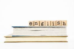 English wording and books Stock Images