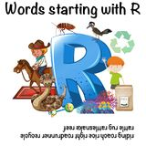 English words. Starting with the letter R Royalty Free Stock Image