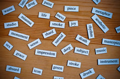 English words Royalty Free Stock Image