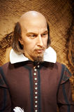 English writers William Shakespeare-wax statue Royalty Free Stock Image