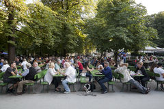 Englisher Garten w Monachium Zdjęcia Royalty Free