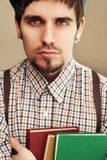 Englishman and book Royalty Free Stock Photo