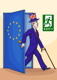 The Englishman leaves the European Union. Stock Images