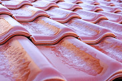 Engobe ceramic roof Royalty Free Stock Photo
