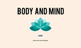Engodo espiritual dos cuidados médicos da restauração da concentração do corpo e da mente ilustração royalty free