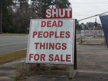 Engraçado assine dentro Geórgia rural Imagem de Stock Royalty Free