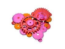 Engrana el corazón Imágenes de archivo libres de regalías