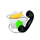Engrana el icono Email y teléfono Fotografía de archivo