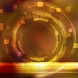 Engranaje anaranjado brillante que modela la plantilla del fondo Imágenes de archivo libres de regalías