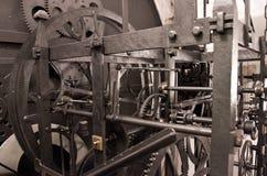 Engranaje astronómico medieval del reloj - interior Imagen de archivo