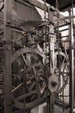 Engranaje astronómico medieval del reloj - interior Fotos de archivo