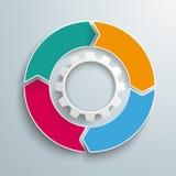 Engranaje coloreado Infographic de las opciones de Ring Cycle 4 Fotografía de archivo
