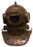 Engranaje de equipo de submarinismo viejo aislado Fotos de archivo libres de regalías