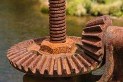 Engranaje de estímulo oxidado Fotografía de archivo libre de regalías