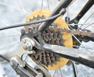 Engranaje de la bici Imagen de archivo