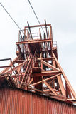 Engranaje de la cabeza de la mina de carbón Imagenes de archivo
