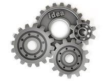 engranaje de la idea 3d Imágenes de archivo libres de regalías