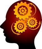 Engranaje de la mente Foto de archivo libre de regalías