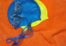 Engranaje de la natación Imagen de archivo libre de regalías