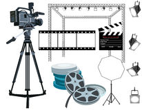 Engranaje de la película Fotos de archivo
