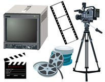 Engranaje de la película Imagenes de archivo