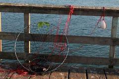 Engranaje de los pescadores del cangrejo Fotografía de archivo