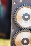 Engranaje de piñón hecho del acero, objeto industrial Imágenes de archivo libres de regalías