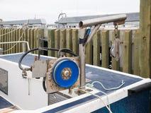 Engranaje de polea de la pesca Foto de archivo