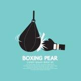 Engranaje del boxeo de la pera del boxeador Fotografía de archivo