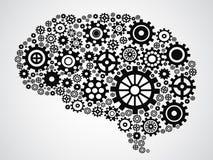 Engranaje del cerebro Imagenes de archivo