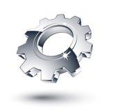 Engranaje del cromo Imagen de archivo libre de regalías