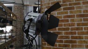 Engranaje del equipo de iluminación almacen de video