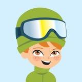 Engranaje del esquí del wearign del muchacho del vector stock de ilustración