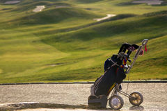Engranaje del golf profesional Imagenes de archivo