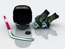 Engranaje del hockey Imagenes de archivo