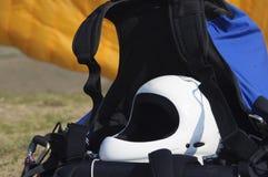Engranaje del Paragliding Fotos de archivo