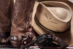 Engranaje del vaquero Imagen de archivo libre de regalías