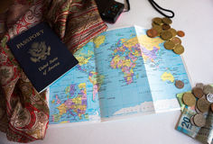 Engranaje del viaje Imágenes de archivo libres de regalías