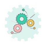 Engranaje e ideas Imagen de archivo