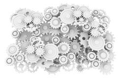 Engranaje fijado en el fondo blanco Imagen de archivo