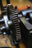 Engranaje industrial grasiento Fotos de archivo libres de regalías