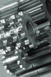 Engranaje-maquinaria en negro/blanco Fotos de archivo