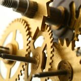 Engranaje mecánico del reloj Imagen de archivo libre de regalías