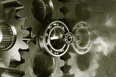 Engranaje-mecánicos con a dos caras-efecto Imagen de archivo libre de regalías