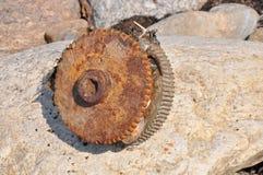 Engranaje oxidado Foto de archivo libre de regalías