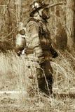 Engranaje protector del héroe Fotos de archivo
