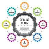 Engranaje que circunda Infographic Fotografía de archivo libre de regalías