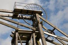 Engranaje viejo de la pista de la explotación minera Fotografía de archivo libre de regalías