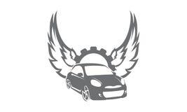 Engranaje Wing Logo del coche Fotografía de archivo libre de regalías