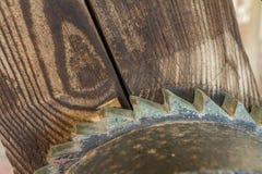 Engranaje y madera Imagen de archivo